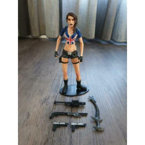 NECA Tomb Raider Player Select (Lara Croft Union Jack UK)