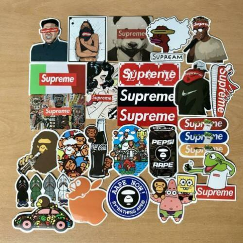 25 stickers Supreme boxlogo Bape Shark LIMITED hypebeast